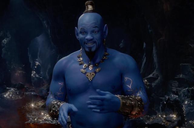 Вновом трейлере «Аладдина» наконец-то показали синекожего джинна